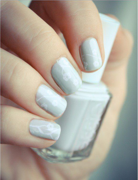 pastel green essie nail