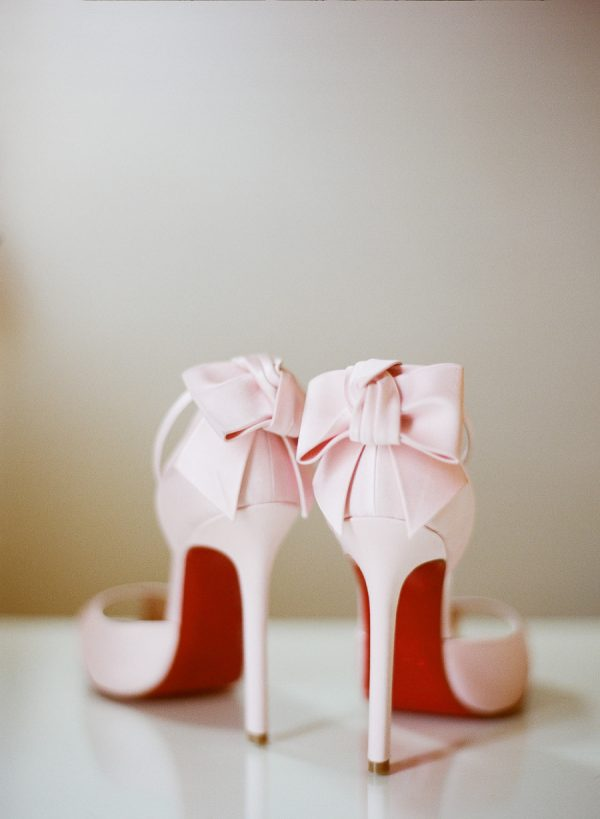 Light Pink Bow Heels