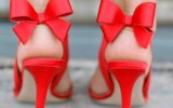 shoes-red-orange-bow-high-heels