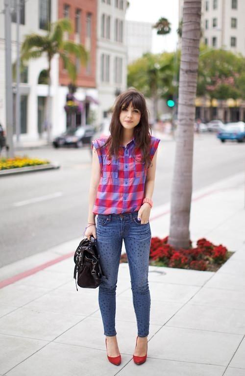 sleeveless flannel