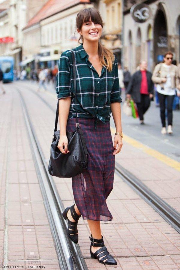 street style flannel