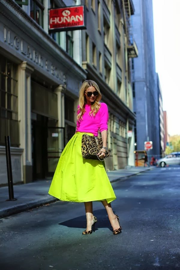 neon color blocking