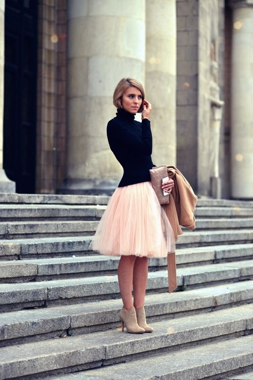 peach tulle skirt 35