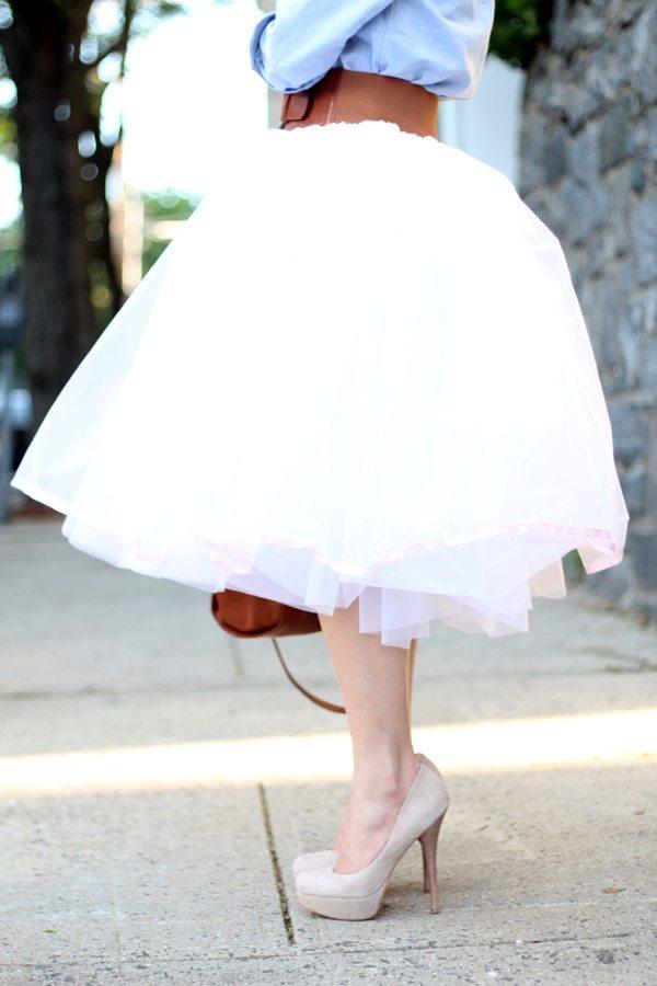 white tulle skirt pretty