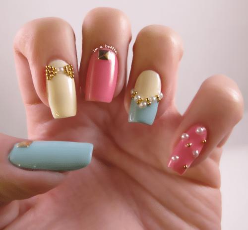 tumblr pastel nail art