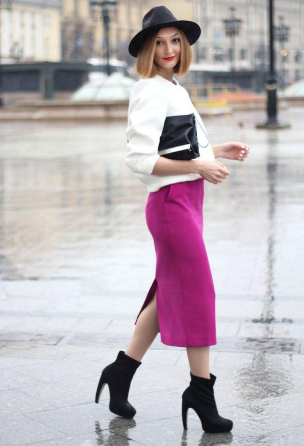 white-jackets-fuchsia-skirts