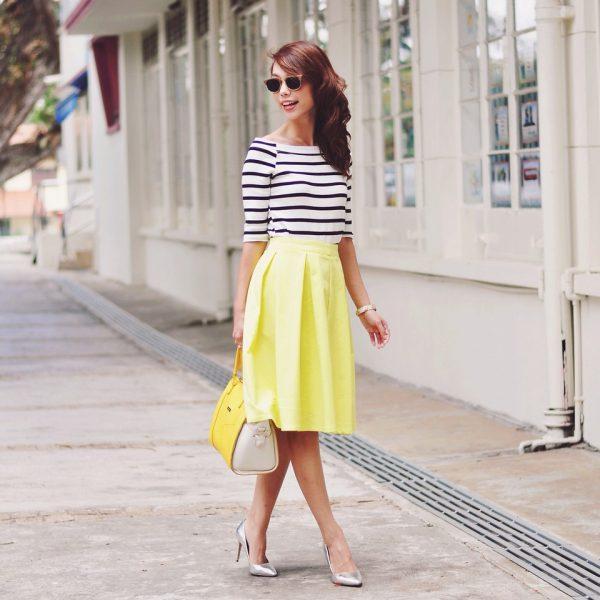 yellow midi style