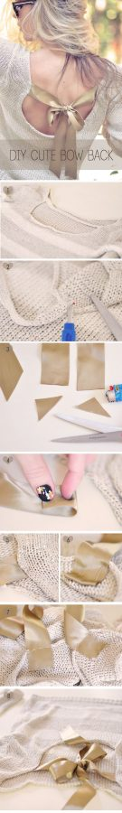 diy cute bow back