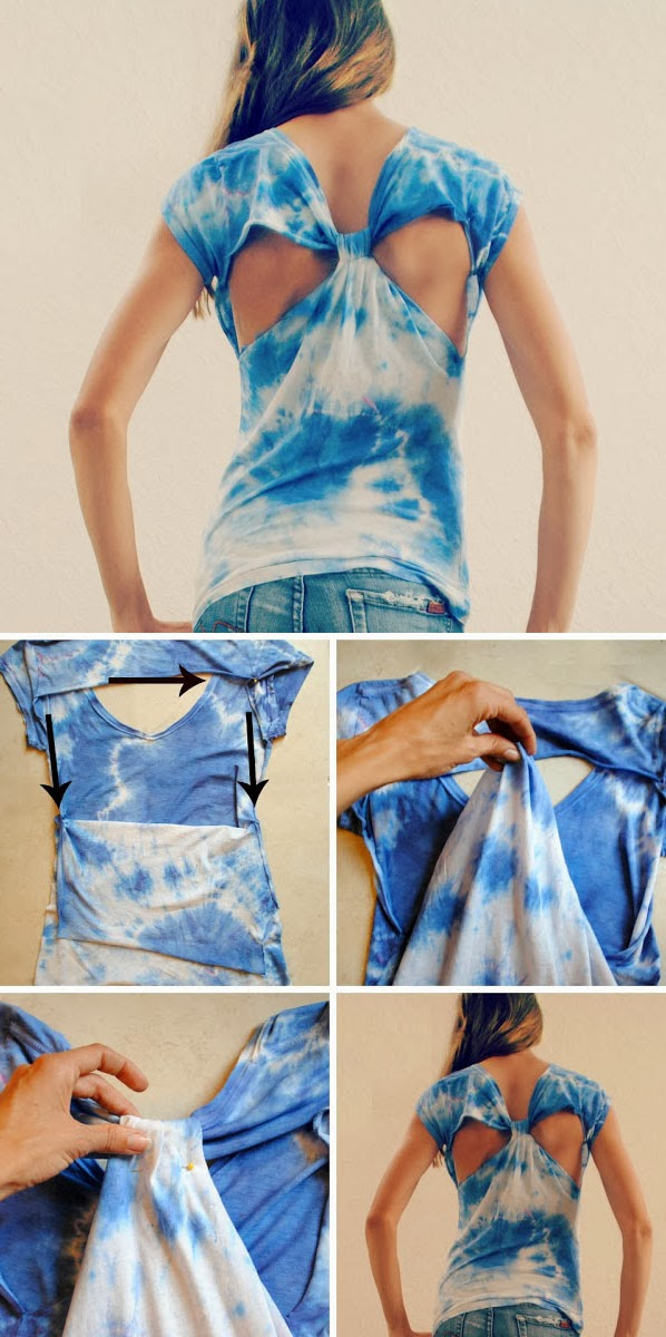 diy cut out back t shirt