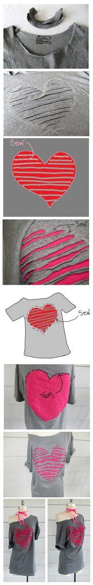 old t shirt remake diy