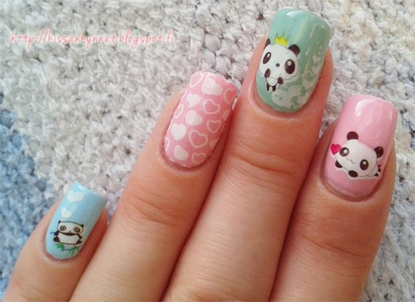 Pastel panda nail art bmodish dot com
