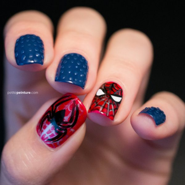 spiderman nail art bmodish dot com