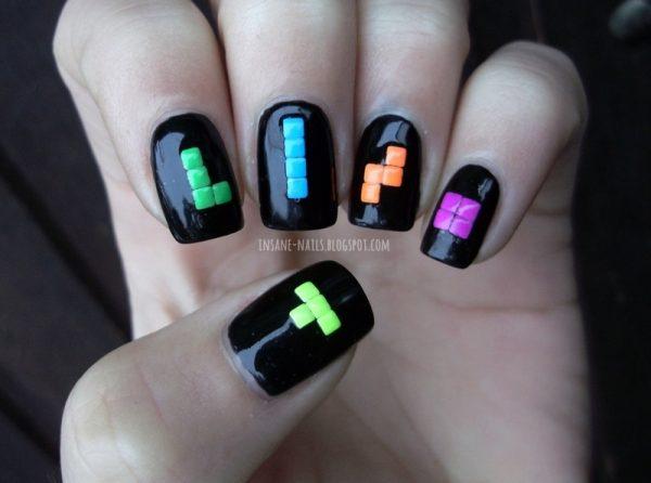 tetris nail art bmodish dot com