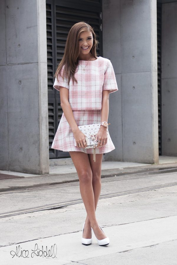 pink plaid summer outfits