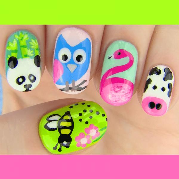 animal inspired nail art bmodish dot com