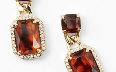 ann taylor tortoise earrings bmodish