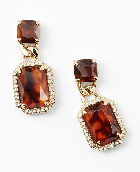 ann taylor tortoise earrings bmodish