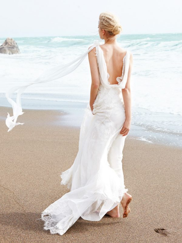 beach silk and lace wedding gown alberta ferretti