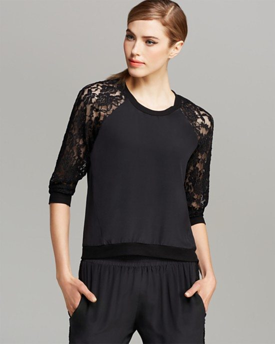 black lace shirt bmodish