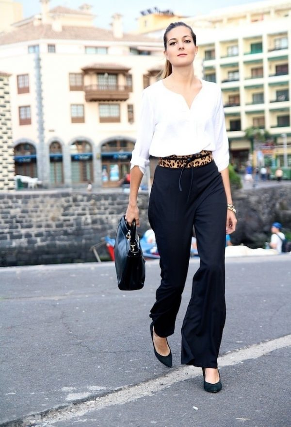 black palazzo pants casual business bmodish