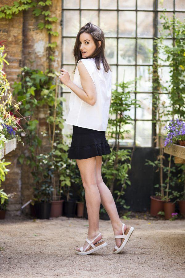 black skirt and white blouse bmodish