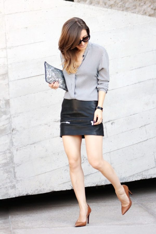 blouse and mini skirt casual business style bmodish