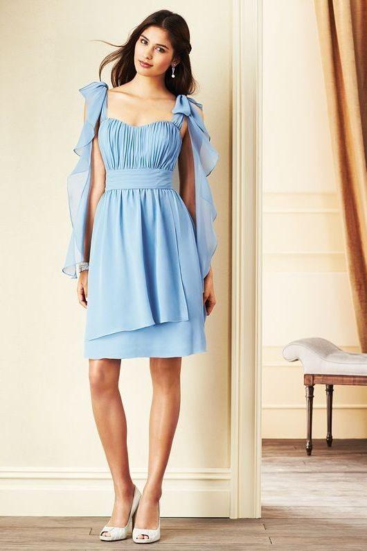 ruffle long bridesmaid dress 2