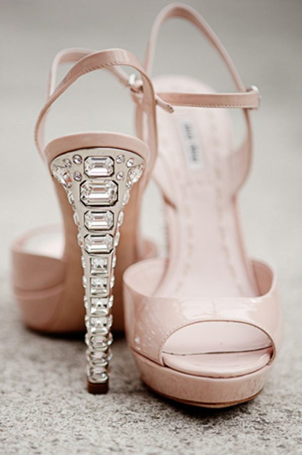blush pink high heels