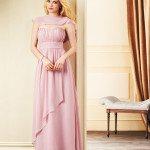 blush pink ruffle bridesmaid dresses 2