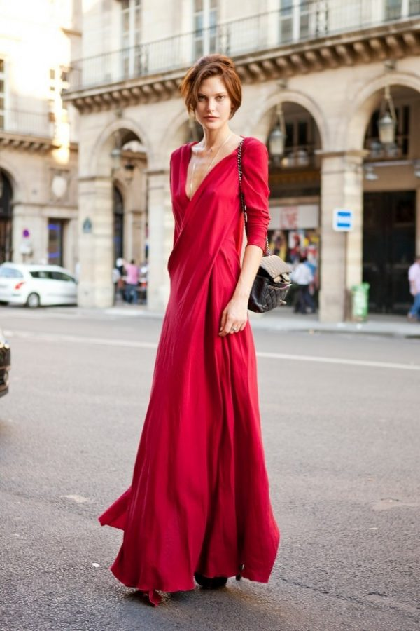 long red maxi dress