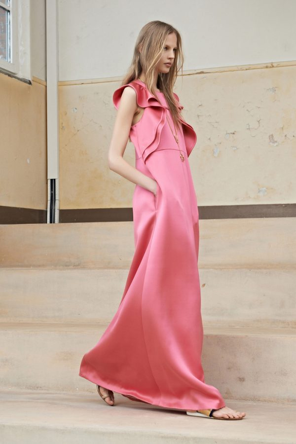 long pink summer dress
