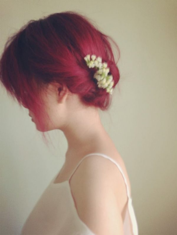 colored hair style bmodish