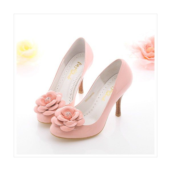 cute-hot-flower-pink-high-heels-wedding-formal-evening-prom-shoes-for-women-