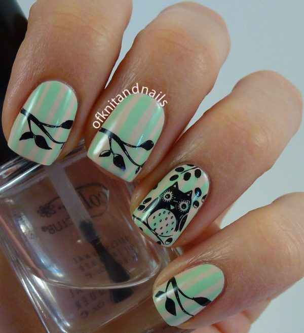 cute little owl nail art bmodish dot com
