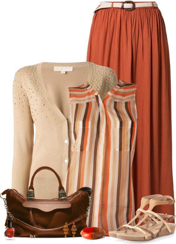 cute maxi skirt outfit bmodish