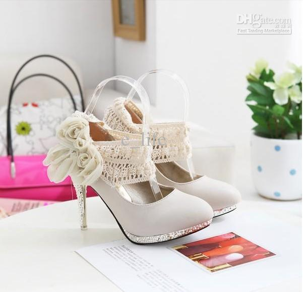 cute silver lace high heels