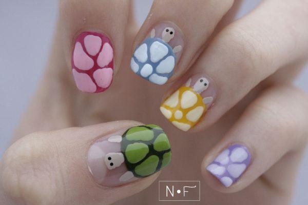disco-turtles nail art bmodish dot com