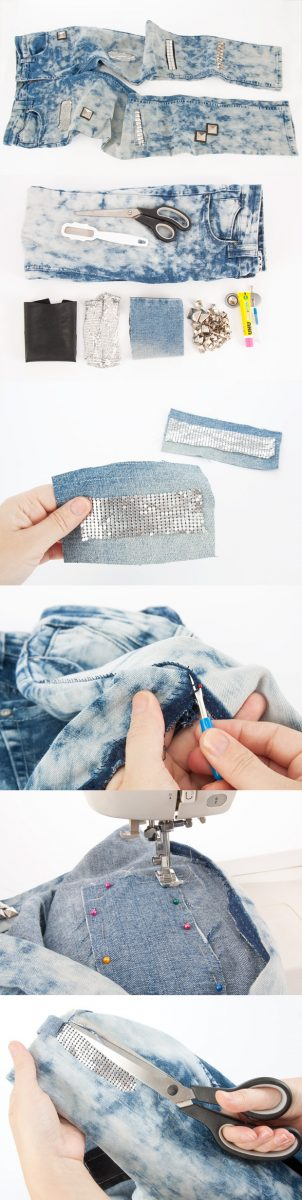 diy fancy jeans