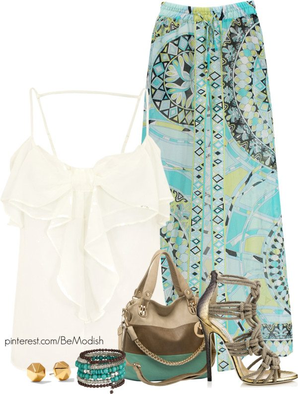 emilio pucci maxi skirt outfit