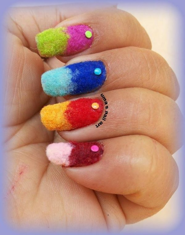 flocking gradient nail art bmodish dot com