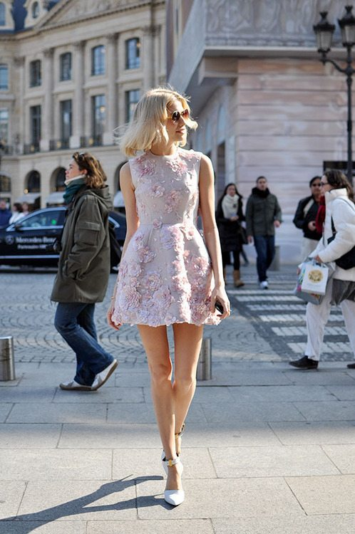 floral dress street style