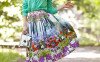 floral midi skirt with blouse bmodish
