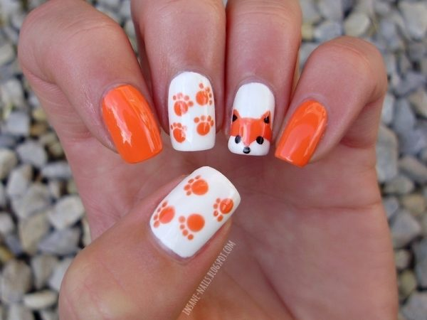 fox animal nail art bmodish dot com
