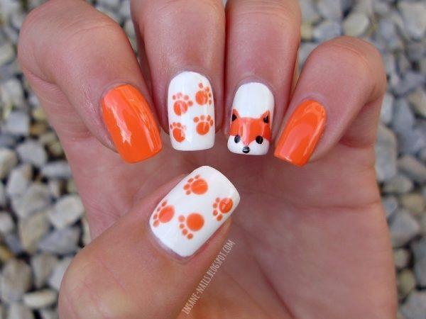 fox animal nail art bmodish dot com