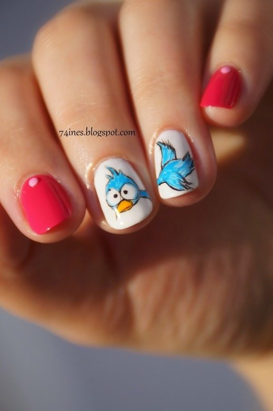 free like a bird nail art bmodish dot com