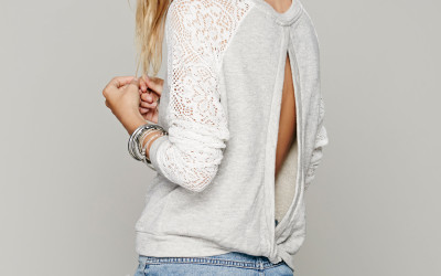 freepeople lace sweatshirt bmodish
