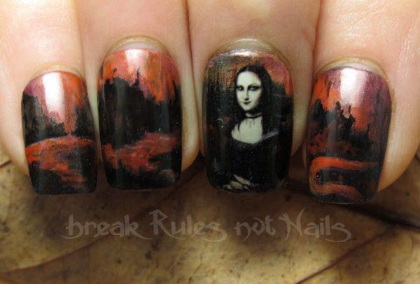goth mona lisa funky nail art bmodish dot com