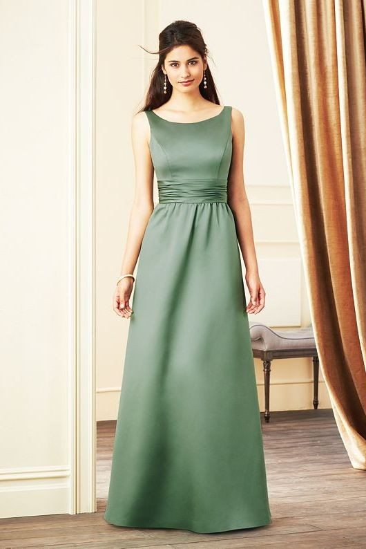 green long bridesmaid dress