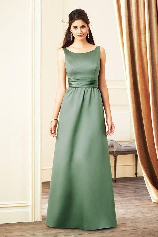 green long bridesmaid dress