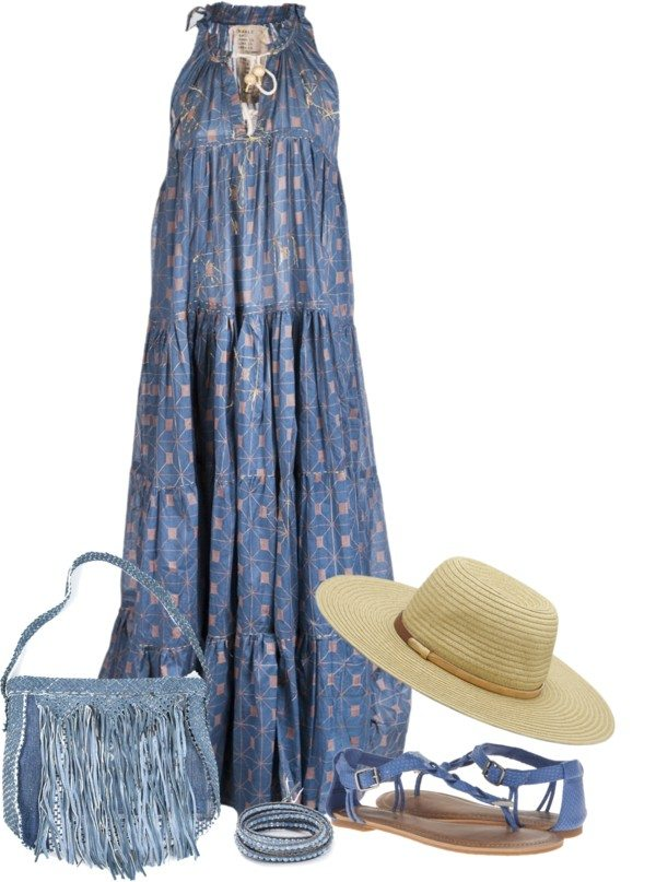 hippie look maxi dress outfit bmodish